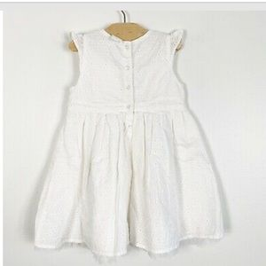 H&M Baby Girl Eyelet Dress Size 9/12 month